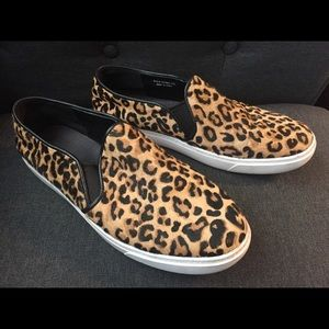 Cole Haan calfhair slip on sneakers